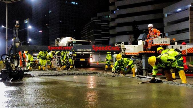 SMCB SMCB Pasok Semen Cepat Kering Untuk Jalur Transjakarta