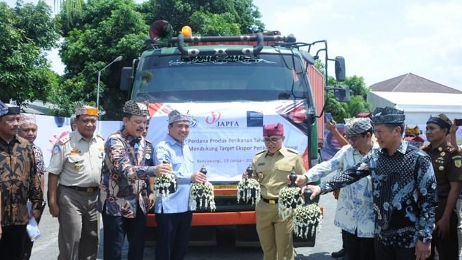 JPFA Kementerian Kelautan dan Perikanan Ekspor Perdana Produk Perikanan Senilai Rp13,3 Miliar