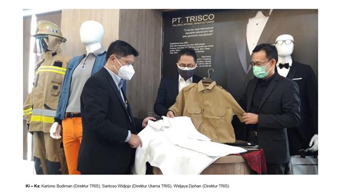 TRIS Ekspor Garmen TRIS Melaju Selama Pandemi Covid-19